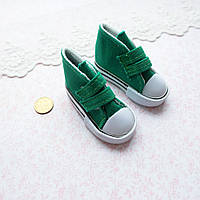 Обувь для Кукол Кеды на Липучках 7*3 см ЗЕЛЕНЫЕ