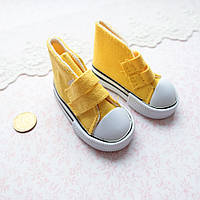 Обувь для Кукол Кеды на Липучках 7*3 см ЖЕЛТЫЕ