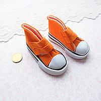 Обувь для Кукол Кеды на Липучках 7*3 см ОРАНЖЕВЫЕ