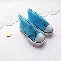 Обувь для Кукол Кеды на Липучках 7*3 см БИРЮЗА