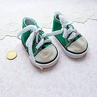 Обувь для Кукол Кеды на Шнуровке 7*3.5 см ЗЕЛЕНЫЕ
