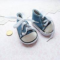 Обувь для Кукол Кеды на Шнуровке 7*3.5 см ДЖИНС