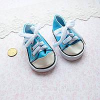 Обувь для Кукол Кеды на Шнуровке 7*3.5 см БИРЮЗА