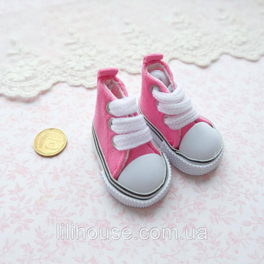 Взуття для ляльок Кеди на Шнурівці 5*2.5 см ЯСКРАВО-РОЖЕВІ