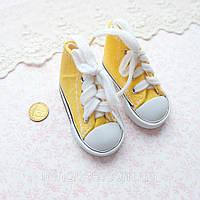 Обувь для Кукол Кеды на Шнуровке 7*3 см ЖЕЛТЫЕ