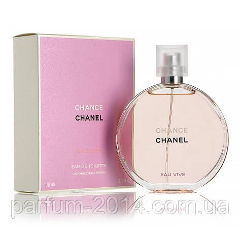 Женская туалетная вода Chanel Chance Eau Vive + 5 мл в подарок (реплика), фото 2
