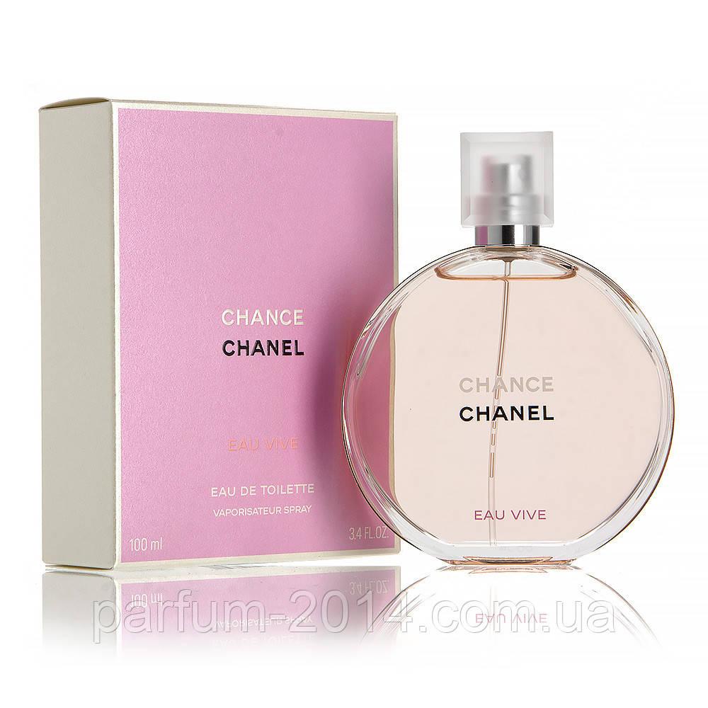 Женская туалетная вода Chanel Chance Eau Vive + 5 мл в подарок (реплика)