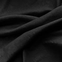 Портьерная ткань чин-чила софт (велюровая), цвет черный