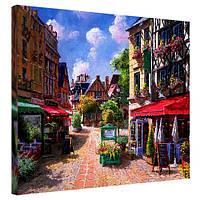 Картина принт на холсте Романтическая улица
