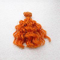 Волосы для Кукол Трессы Озорные Кудри РЫЖИЕ 15 см