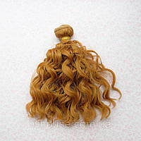 Волосы для Кукол Трессы Озорные Кудри ТЕПЛЫЙ РУСЫЙ 15 см