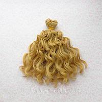 Волосы для Кукол Трессы Озорные Кудри СВЕТЛО-РУСЫЕ 15 см