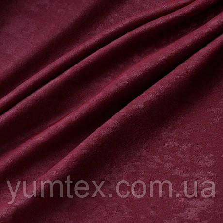 Портьерная ткань чин-чила софт (велюровая), цвет бордовый
