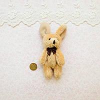 Мягкая Игрушка Кролик 11 см с ушками СВЕТЛО-КОРИЧНЕВЫЙ