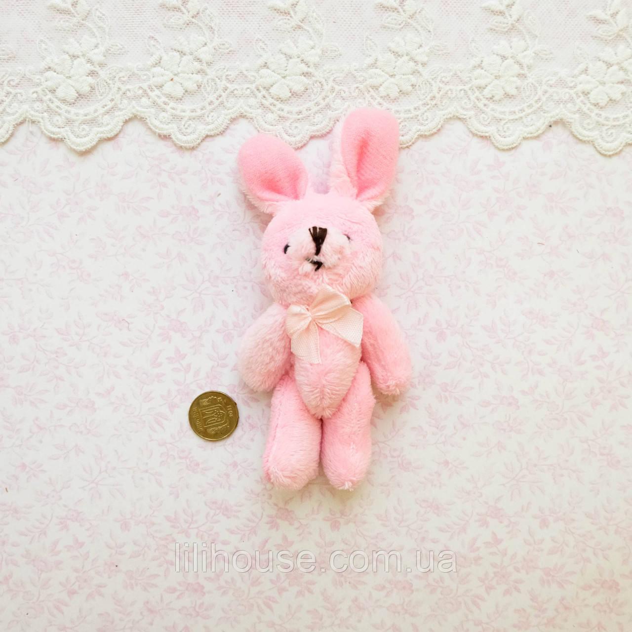 Мягкая Игрушка Кролик 11 см с ушками РОЗОВЫЙ