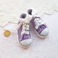 Обувь для Кукол Кеды на Шнуровке 7*3 см ФИОЛЕТ