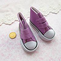 Обувь для Кукол Кеды на Липучках 7*3 см ФИОЛЕТ