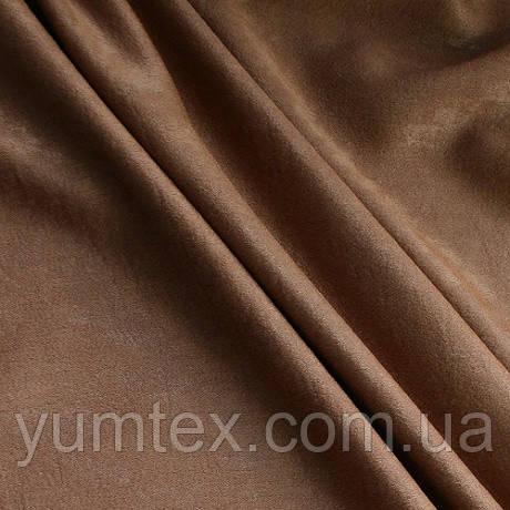 Портьерная ткань чин-чила софт (велюровая), цвет коричневый (корица)
