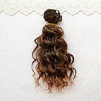 Волосы для Кукол Трессы Мокрые Кудри Омбре ШАНГРИЛА 15 см