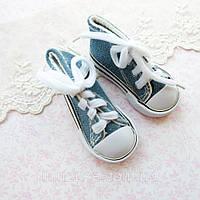 Обувь для Кукол Кеды на Шнуровке 7*3 см ДЖИНС
