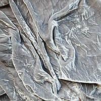 Бархат ШЕЛКОВЫЙ винтажный, основа для вышивки, светло серый - 25*35 см, фото 1