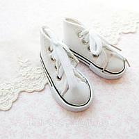 Обувь для Кукол Кеды на Шнуровке 7*3 см БЕЛЫЕ