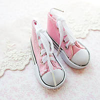 Обувь для Кукол Кеды на Шнуровке 7*3 см РОЗОВЫЕ