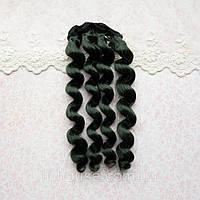 Волосы для Кукол Трессы Кудри ИЗУМРУДНО-ЗЕЛЕНЫЙ 15 см