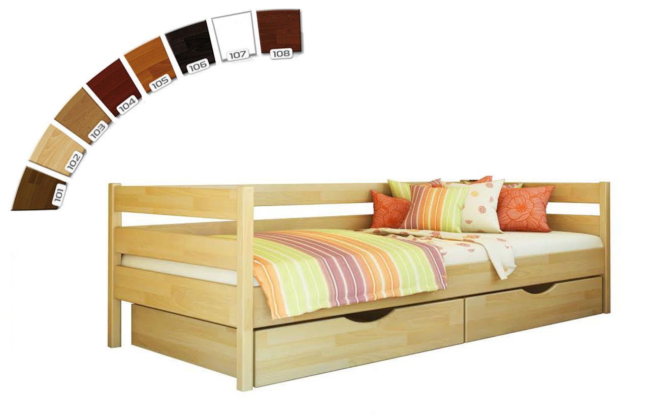 Ліжко в дитячу кімнату з натуральної деревини буку Нота Естелла