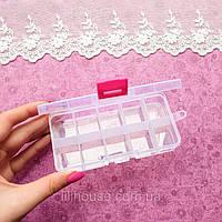 Коробка-Бокс Органайзер для Хранения 12.5*6.5*2 см РОЗОВЫЙ
