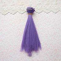 Волосы для Кукол Трессы Прямые ИНДИГО 20 см