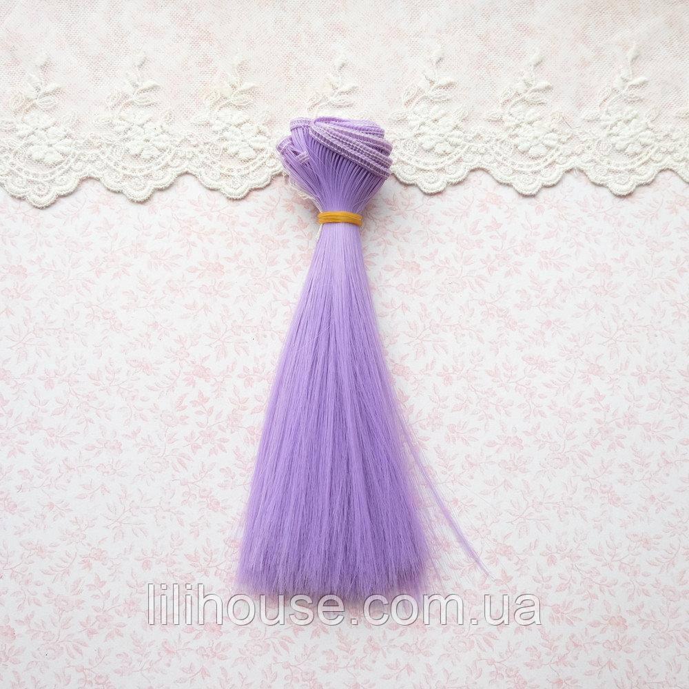 Волосы для Кукол Трессы Прямые АМЕТИСТ 15 см