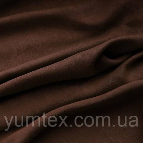 Портьерная ткань чин-чила софт (велюровая), цвет шоколад