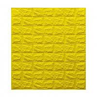 3D панель під канарково-жовту цеглу 700x770x7мм