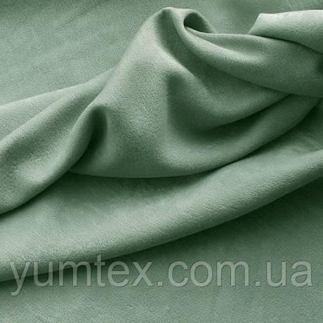 Портьерная ткань чин-чила софт (велюровая), цвет т. оливка