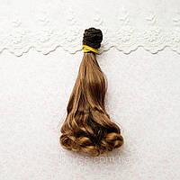 Волосы для Кукол Трессы Волна на Концах Омбре КАШТАН 15 см
