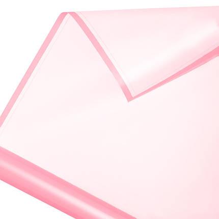 Калька в рулоні матовий кант 04 рожева 60*60 см, фото 2