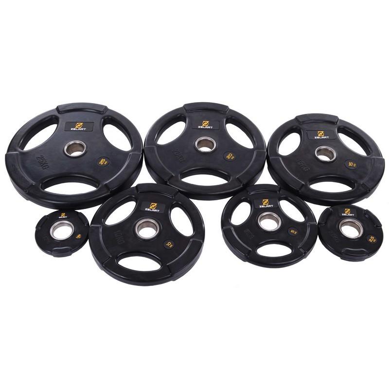 Набор олимпийских блинов (дисков) обрезиненные Zelart TA-2673 120 кг