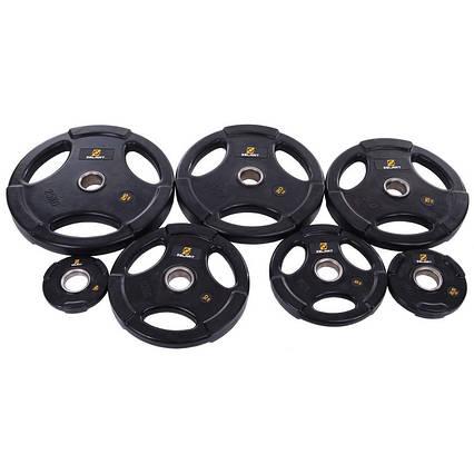 Набор олимпийских блинов (дисков) обрезиненные Zelart TA-2673 120 кг, фото 2