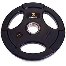 Набір олімпійських млинців (дисків) обгумовані Zelart TA-2673 120 кг, фото 2