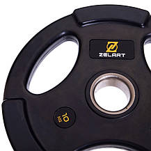 Набір олімпійських млинців (дисків) обгумовані Zelart TA-2673 120 кг, фото 3