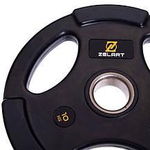 Набор олимпийских блинов (дисков) обрезиненные Zelart TA-2673 120 кг, фото 3