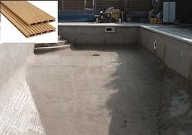 Оздоблення бетонних басейнів терасної дошкою
