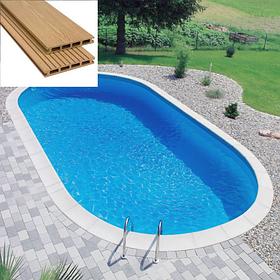 Обробка збірних басейнів терасної дошкою