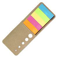 Стикеры разноцветные в картововой обложке, 175 стикеров для заметок