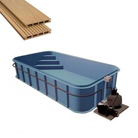 Обробка поліпропіленових басейнів терасної дошкою