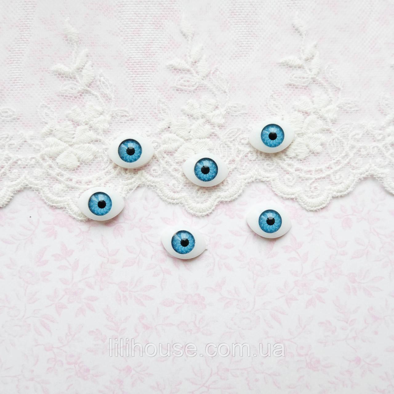 Глазки для Кукол Пластиковые РЫБКИ 10*14 мм БИРЮЗА