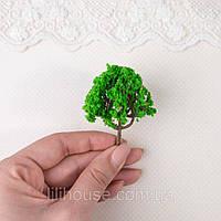Искусственное Дерево для Диорамы и Миниатюры 6 см ЗЕЛЕНОЕ