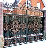 Металлические ворота, художественная ковка Херсон