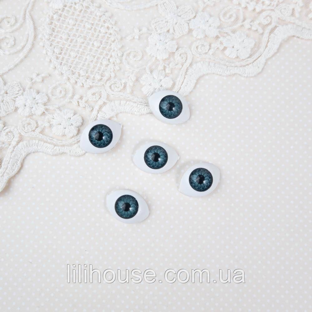Глазки для Кукол Пластиковые РЫБКИ 22*16 мм ТЕМНО-СИНИЕ